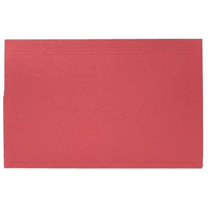 Guildhall Document Wallets Full Flap, 315gsm, Foolscap, Red, Pack of 50