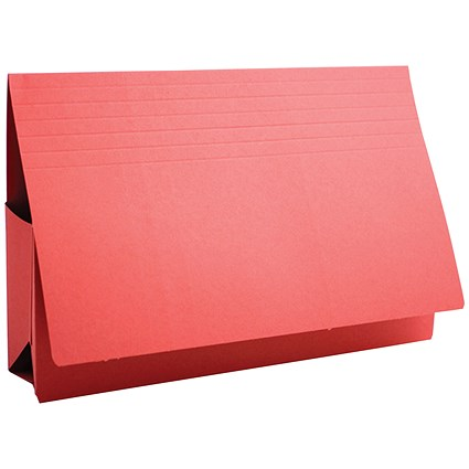 Guildhall Probate Wallets / Manilla / 315gsm / 75mm / Foolscap / Red / Pack of 25