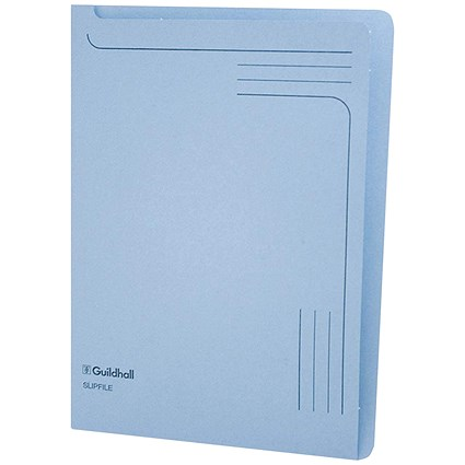 Guildhall A4 Slipfile / Blue / Pack of 50