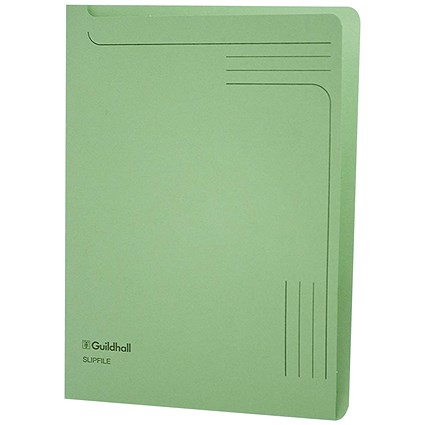 Guildhall A4 Slipfile, Green, Pack of 50