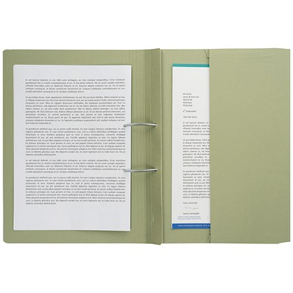 Guildhall Back Pocket Transfer Files / 315gsm / Foolscap / Green / Pack of 25