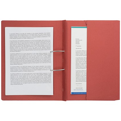 Guildhall Back Pocket Transfer Files, 315gsm, Foolscap, Red, Pack of 25