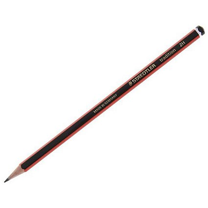 Staedtler 110 Tradition Pencil, Cedar Wood, 2H, Pack of 12