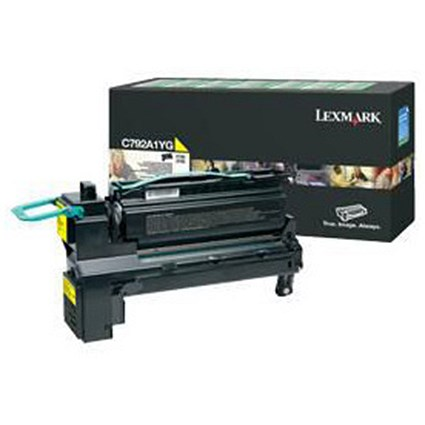 Lexmark C792A1YG Yellow Laser Toner Cartridge