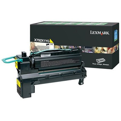 Lexmark X792X1YG Extra High Yield Yellow Laser Toner Cartridge