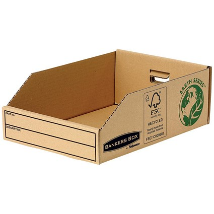Bankers Box Storage Bin, Corrugated Fibreboard, Packed Flat, W200xD280xH102mm, Pack of 50