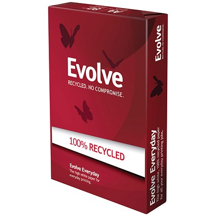 Evolve A4 Everyday Recycled Paper / White / 80gsm / 500 Sheets