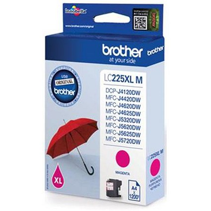 Brother LC225XLM High Yield Magenta Inkjet Cartridge