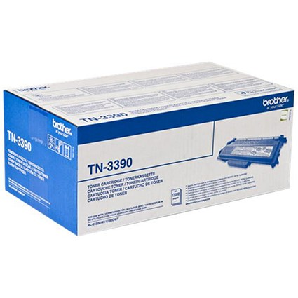 Brother TN3390TWIN Super High Yield Black Laser Toner Cartridges (Twin Pack)