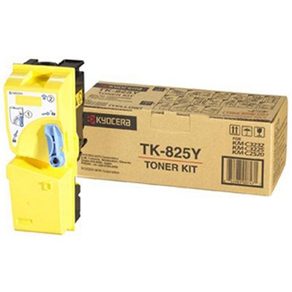 Kyocera TK-825Y Yellow Laser Toner Cartridge