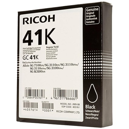 Ricoh 41K Black Print Cartridge