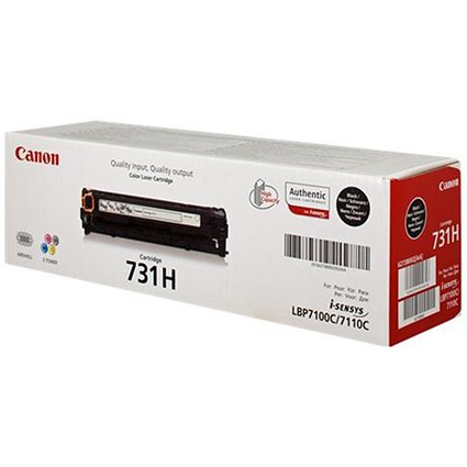 Canon 731H High Yield Black Laser Toner Cartridge