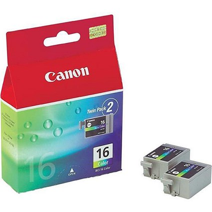 Canon BCI-16 Colour Ink Cartridges (Twin Pack)