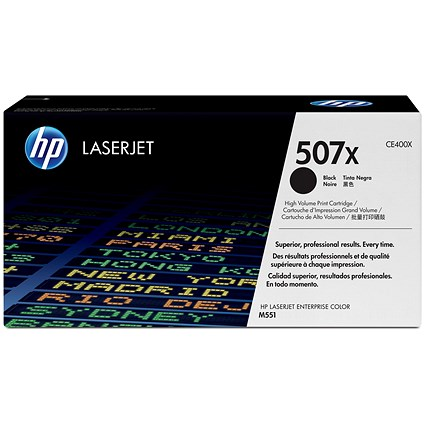 HP 507X Black Laser Toner Cartridge