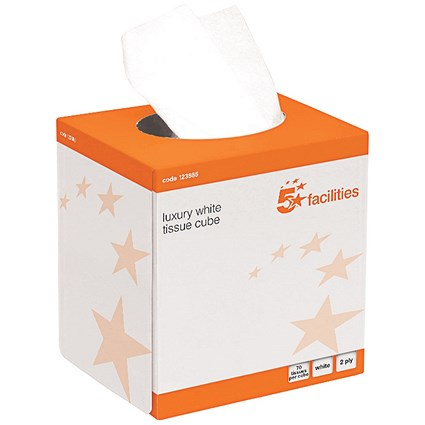 5 Star Facial Tissues / 2-Ply / 24 Cubes of 70 Sheets