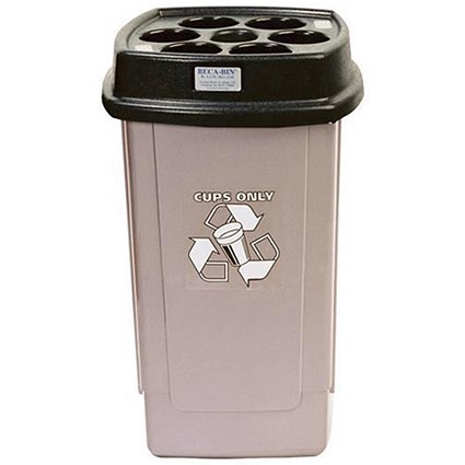 Disposable Cup Bin - Silver