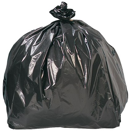 5 Star Refuse Sacks, Medium Duty, 85 Litre, 415x660x955mm, Black, Pack of 200