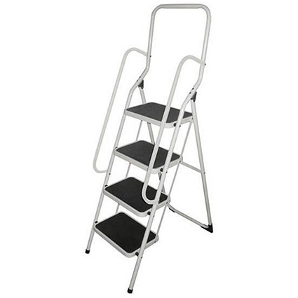 Metal Step ladder with Handrail - 4 Step