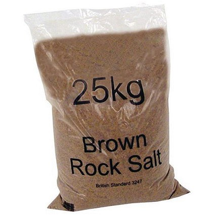 Rock Salt De-icing / 25kg / Brown / Pack of 40