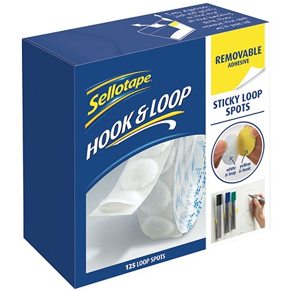 Sellotape Removable Loop Spots - Pack of 125