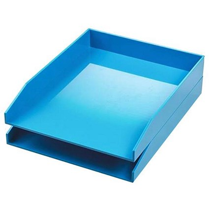 Avery ColorStak Letter Tray / Blue / Pack of 2