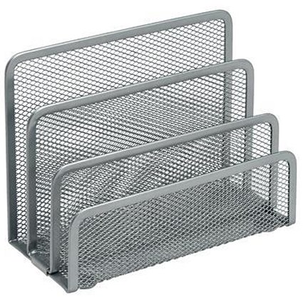 Vertical Wire Mesh Sorter - Silver