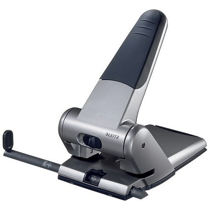 Leitz Heavy-duty Hole Punch, Silver, Punch capacity: 65 Sheets