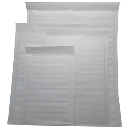 Jiffy Superlight Foam-lined Mailer / White / Kraft / Outer Size 1 / 200x260mm / 12.2g / Pack of 200