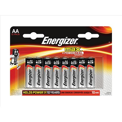 Energizer Max AA/E91 Batteries - Pack of 12