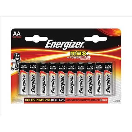 Energizer Max AA/E91 Batteries - Pack of 16