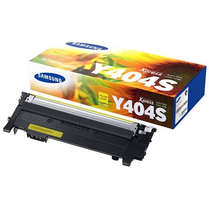 Samsung CLT-Y404S Yellow Laser Toner Cartridge