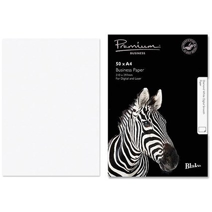 Blake Premium A4 Paper / Wove Finish / Diamond White / 120gsm / 50 Sheets