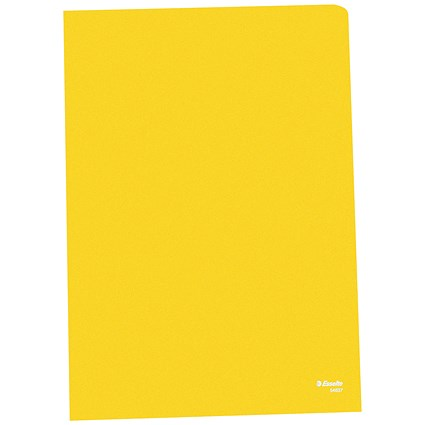Esselte Copy-safe Cut Flush Folders, A4, Yellow, Pack of 100
