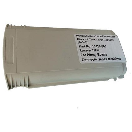Totalpost Compatible Black Franking Inkjet Cartridge for Pitney Bowes ConnectPlus Series (Ref 10426-803)