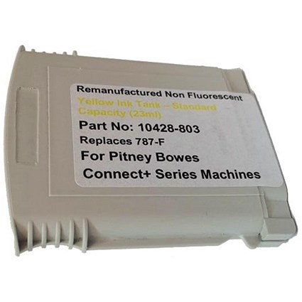Totalpost Compatible Yellow Franking Inkjet Cartridge for Pitney Bowes ConnectPlus Series (Ref 10428-803)