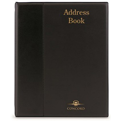 Telephone Index Book Binder with Matching A-Z Index and 20 Sheets / A4 / Black