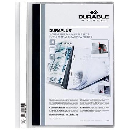 Durable A4 Duraplus Quotation Folders / White / Pack of 25