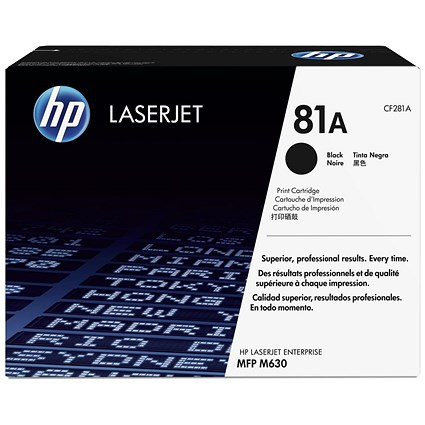 HP 81A Black LaserJet Toner Cartridge