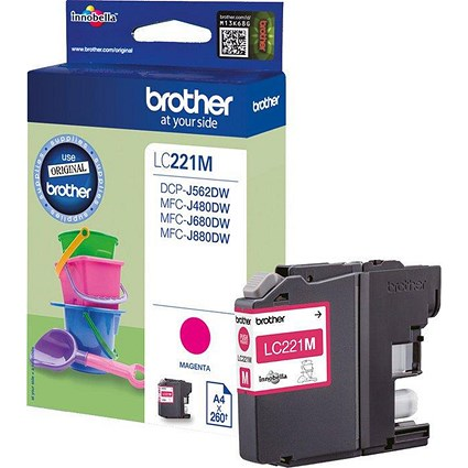 Brother LC221 Magenta Inkjet Cartridge