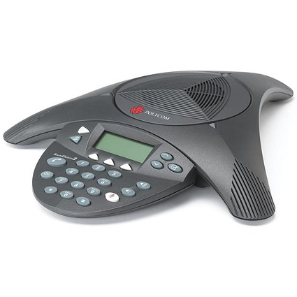 Polycom SoundStation2 Conference Phone Anti-Echo Full Duplex 8-10 Users 360  Deg Pickup Ref PB-PO2