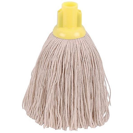 Robert Scott & Sons Smooth Surface Mop Head / Socket / Twine / 16oz / Yellow / Pack of 10