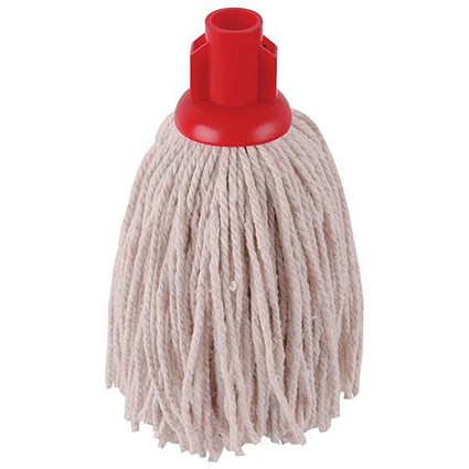 Robert Scott & Sons Smooth Surface Mop Head / Socket / PY Yarn / 12oz / Red / Pack of 10
