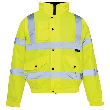 High Visibility Storm Bomber Jacket / Small / Yellow