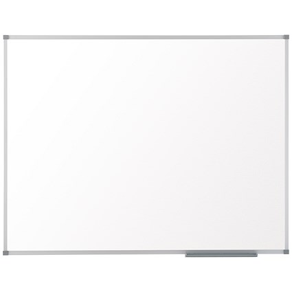 Nobo Basic Steel Magnetic Whiteboard, Aluminium Frame, W600xH450mm, White