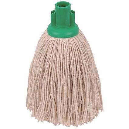 Robert Scott & Sons Smooth Surface Mop Head, Socket, Twine, 16oz, Green, Pack of 10