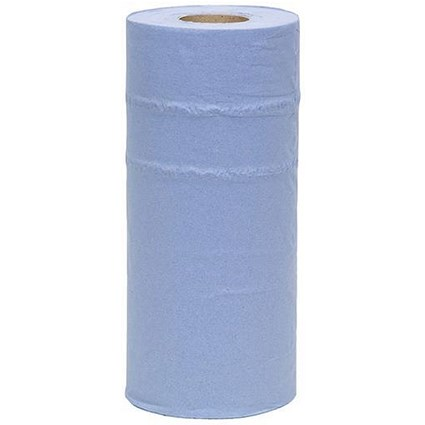 Maxima Hygiene Rolls / 10in / Blue / Pack of 24