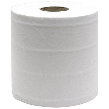 Maxima 4681 Mini Centrefeed Rolls / 1-Ply / White / Pack of 12