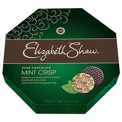 Elizabeth Shaw Dark Mint Crisp Chocolates - Pack of 28