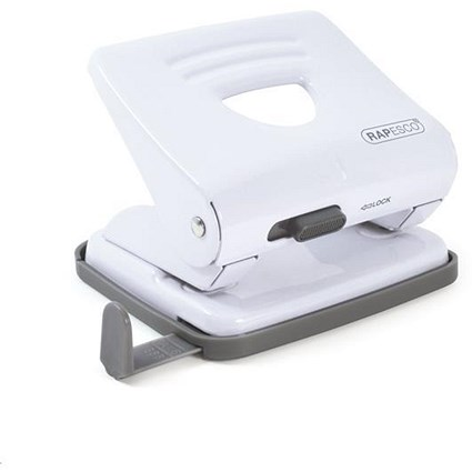 Rapesco 825 2-Hole Punch / White / Punch capacity: 25 Sheets