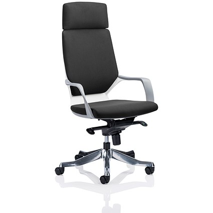 Adroit Xenon Executive Chair, Black on White